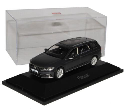 Volkswagen VW Passat Variante B8 había combinado gris Urano negro de Herpa 1//43 de 2014 el LUN.