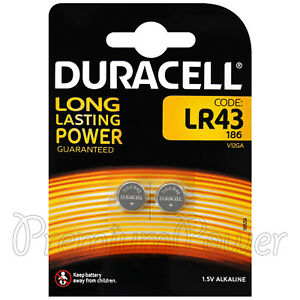 2-x-Pilas-Duracell-Alcalino-LR43-1-5-V-186-V12GA-AG12-1176-A-2-paquete-de-celulas-moneda