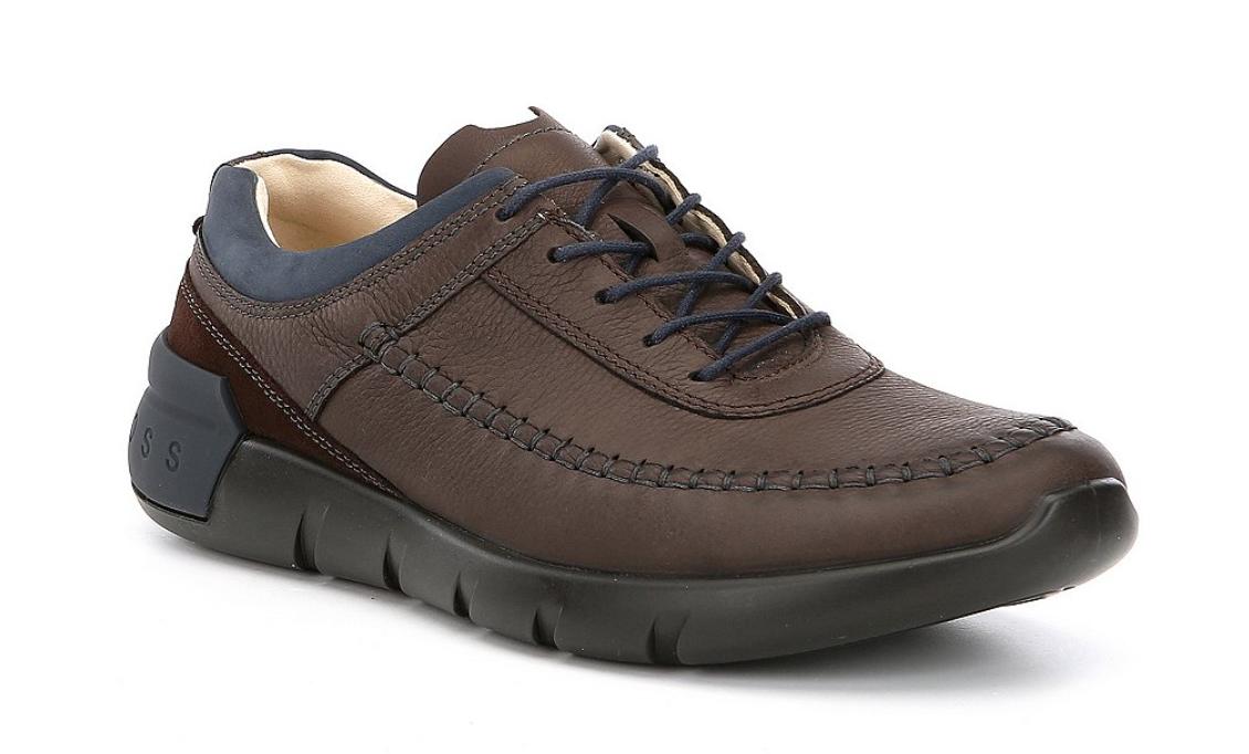 ECCO Men's Brown Cross X Classic Tie Sneakers Sz 42 EUR 3062