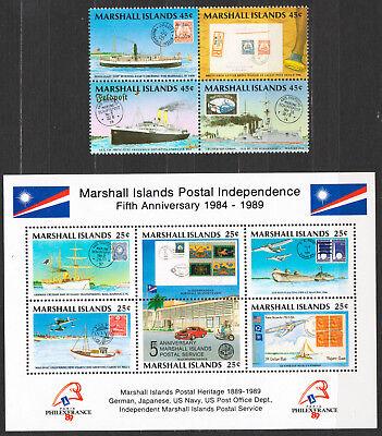 2019 Mode Marshall Islands 1989 Postgeschichte Postal History Schiffe Ships Aircraft