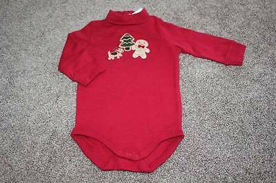 Baby Gingerbread Boy Bodysuit Size 3-6 months mos NWT NEW Christmas Red Gymboree