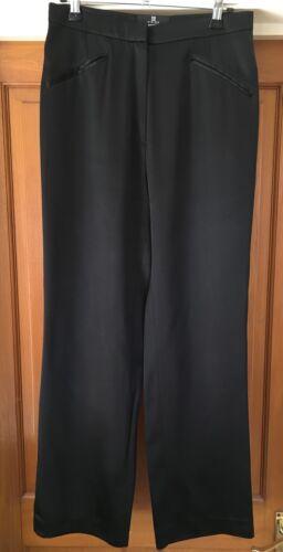 12 Uk Satin Givenchy taglia Pants 40 Black Pantaloni Ladies FqaxwfBnA