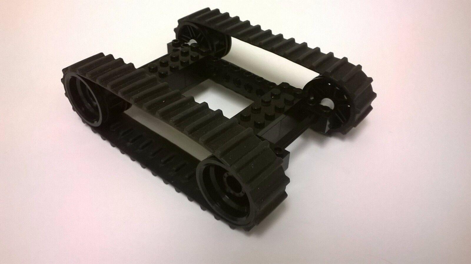 Lego Tanque peldaños-costumbre construido pistas de goma w ruedas Tanque ciudad de construcción