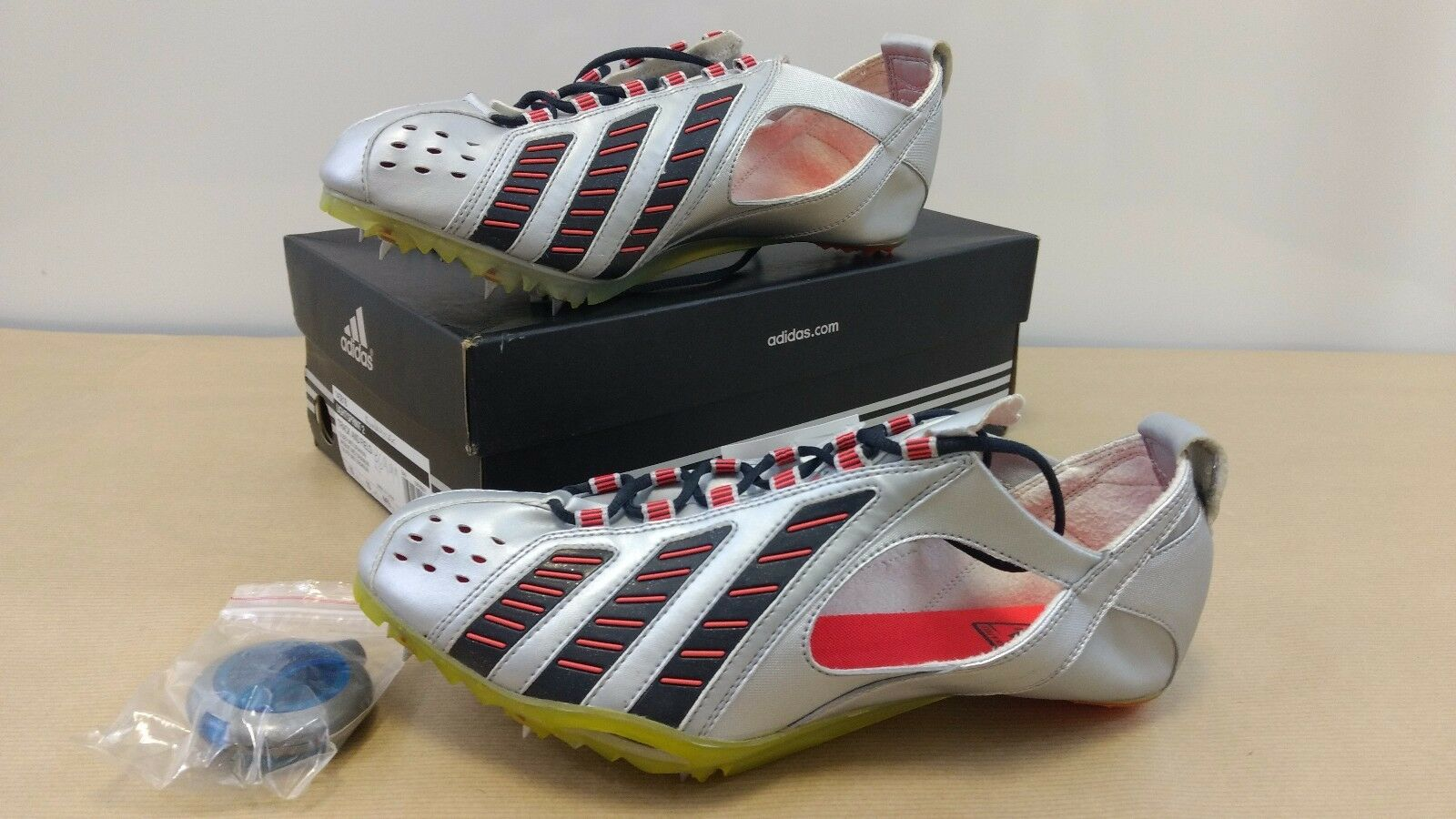 Adidas Lightsprint2 Track and Field Boots Silver, Red, Black, UK size 10