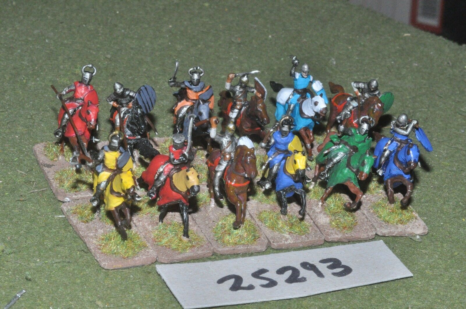 20mm medieval   crusader - knights 12 figures - cav (25293)