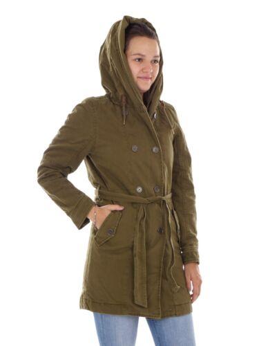 Coat Utility Parka cappuccio Giacca Green O'neill imbottite Tasche con Winter EfgHq0fFw
