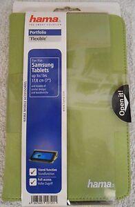 """Tasche Samsung Tablets bis 17,8cm 7"""" Portfolio Case Hülle Flexible Zoll Grün NEU"""
