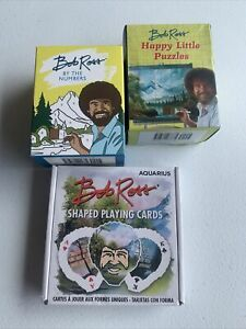 Bob Ross Collectibles Bundle Puzzle Paint By Number And Bob Ross Playing Cards