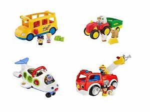 Fisher Price Little People Lil Movers Playsets - Bus, Truck ...