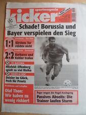 KICKER 79 - 30.9. 1999 Leverkusen-Kiew AC Mailand-Hertha Bayern-Valencia 1:1