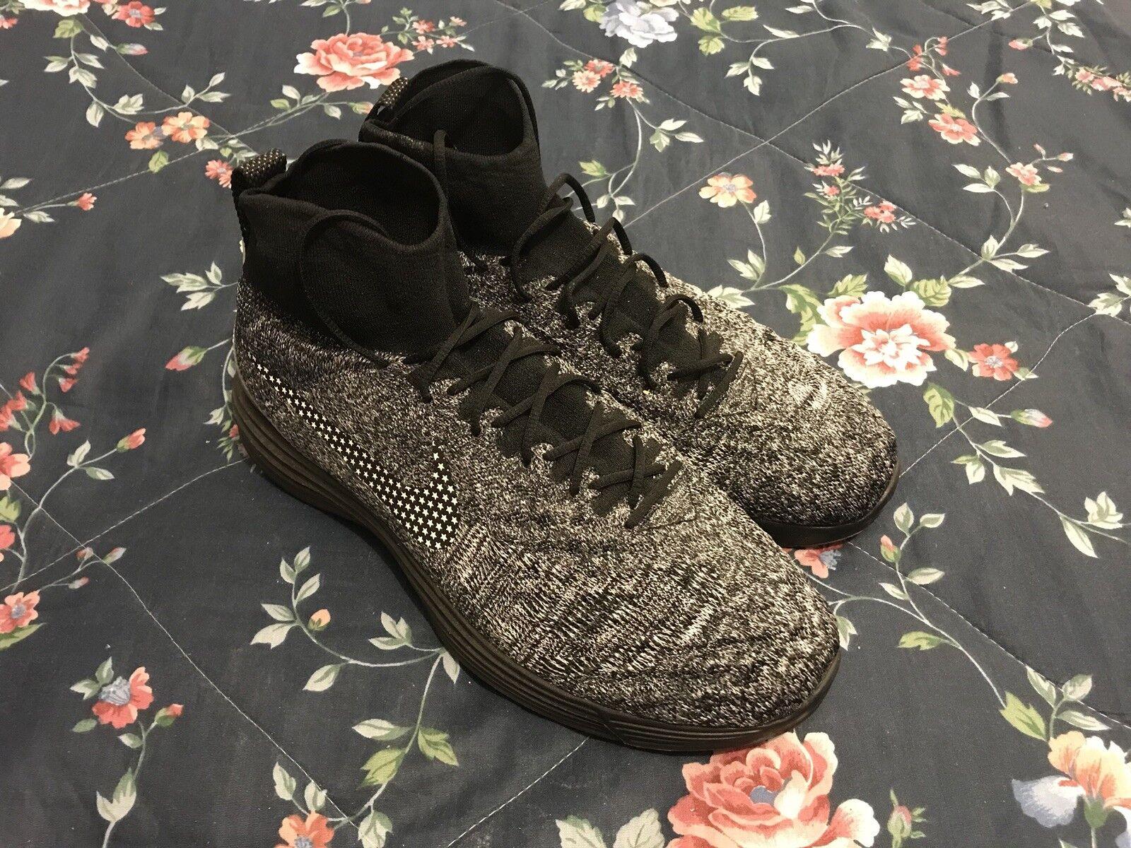 3dbc39d8775 Nike Lunar Magista FC Sz Men's Flyknit Oreo Soccer Futbol RARE II 13 ...