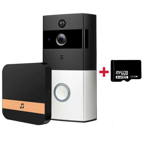 Wlan Ring Video Türklingel Video Doorbell mit Kamera HD Nachtsicht Funkklingel
