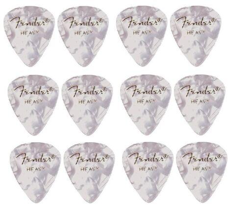 Pack of 12 picks Heavy. FENDER  Premium Celluloid Guitar Plectrums White