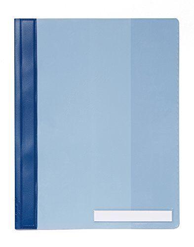 DURABLE Schnellhefter Sichthefter DIN A4 Überbreite Innentasche transparent//blau