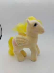 VTG My Little Pony Figure G1 So Soft Lofty Flocked Fuzzy Yellow Balloons Pegasus