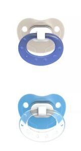 BPA Free NUK Orthodontic Translucent Pacifier Pack of 2 0-6 Months Blue