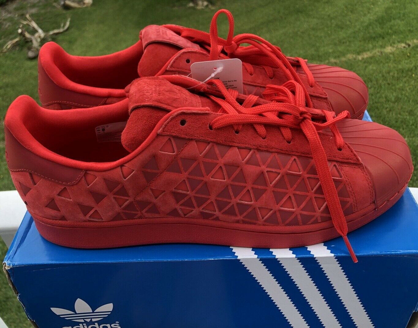 Adidas Superstar Xeno VivRED Red Size 12 AQ8181 Lifestyle Running Training