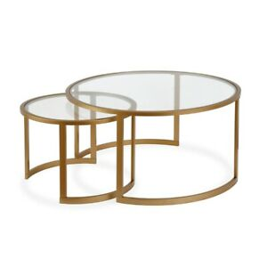Details About Two Tier Brass Coffee Table