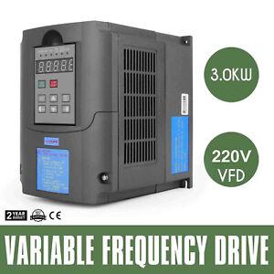 4HP Variateur de Fréquence 3,0kw VFD Convertisseur de Fréquence 220V SPWM