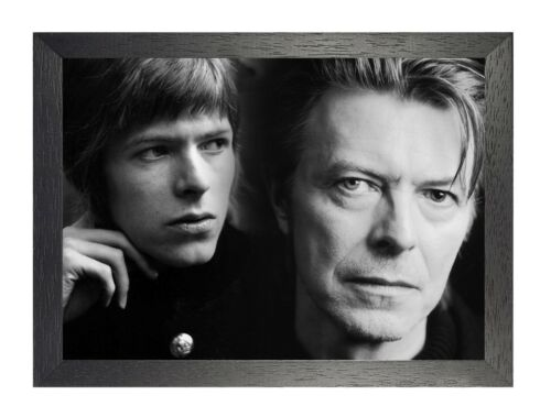 David Bowie 7 English Rock Star Music Legend Icon Songwriter Poster Portrait B/&W