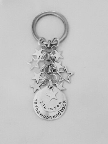 I LOVE YOU TO THE MOON AND BACK Keyring Just For You stars XMAS Gift Birthday