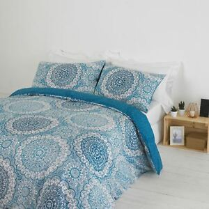 Textile Warehouse Mandala Indigo Blue White Duvet Cover Bedding Set