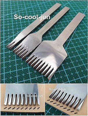 3mm European Style Leather Craft Stitching Lacing Punch Chisel Tool Set Kit 3pcs