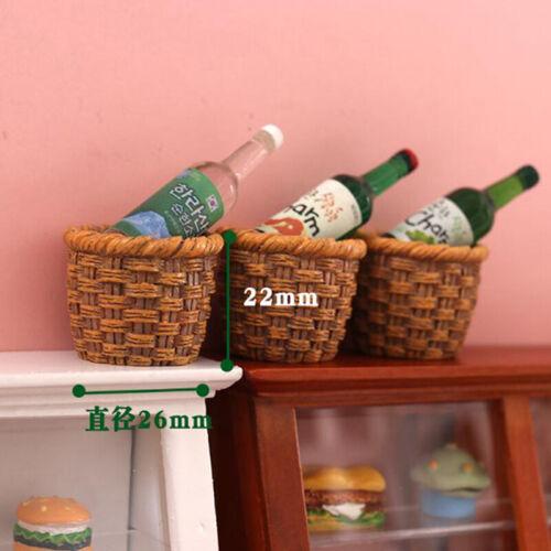 1Pc 1:12 Dollhouse Miniature Resin Basket Model Dolls Kitchen Accessori EW