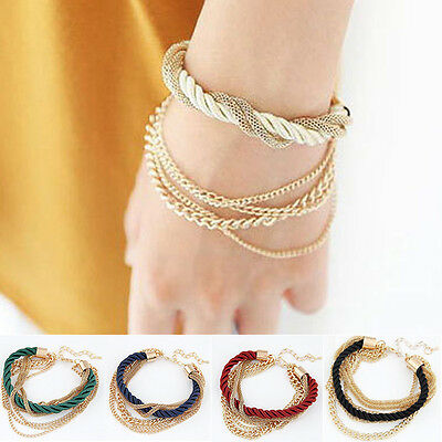 NEW Style Women Wrap Jewelry Fashion Leather Cute Infinity Bangle Charm Bracelet