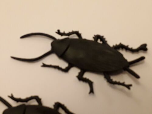 BlackFlat Beetle Insect 6 Pack New Halloween Scary Creepy PlasticParty Beatles