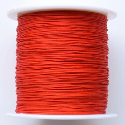 0.5mm X 140M Anudado Chino Cola de rata Trenzado Macramé Shamballa alambre de cuerda de nylon