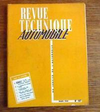 Revue Technique automobile RENAULT DAUPHIINE GORDINI 1958 et 1959