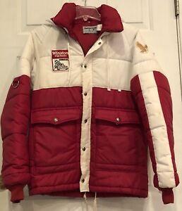 Vintage red puffy nylon jacket Dayton Nascar Winston Cup Series