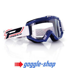 af75c5dd02b Progrip Race Line Raceline Goggles 3201 Blue Clear Lens Motocross Enduro
