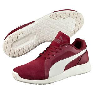 Puma-PC-Baskets-Evo-Daim-44-5-Bordeaux-Baskets-Hommes-Loisirs-Chaussure-64-95