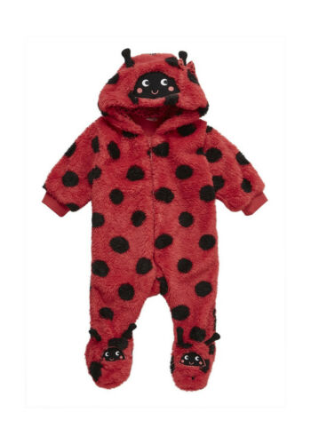Ladybird Fleece Pram Suit All in One