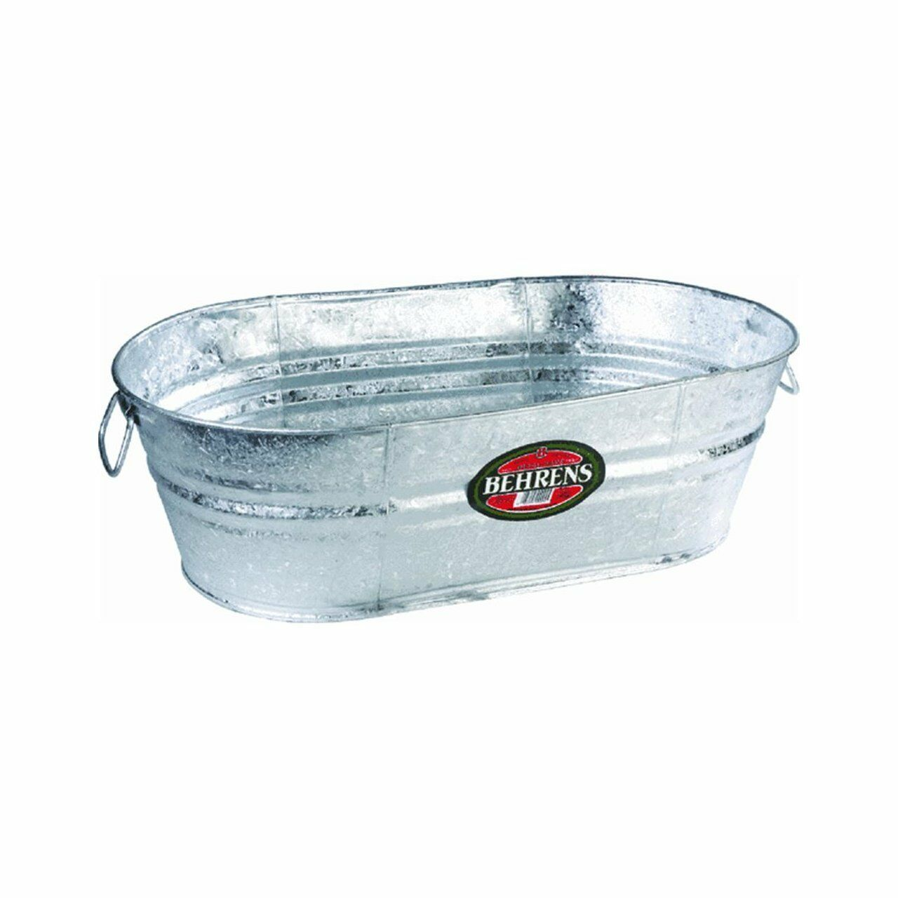 BEHRENS LOT OF (3) 16 GALLON HOT DIPPED GALVANIZED WATER OVAL WASH TUBS 6228399