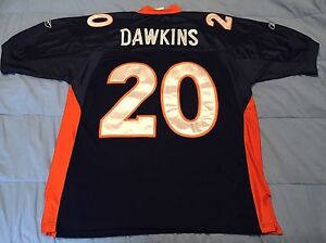 finest selection 35bdf 0a895 Details about Authentic Reebok Brian Dawkins Denver Broncos Size 52 NFL  Jersey # 20 Clemson