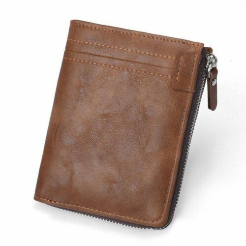 Short Wallet Men Genuine Leather Male Top Thin Mini Card Purse For Coins Zipper