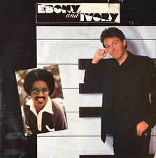 "PAUL MCCARTNEY WITH STEVIE WONDER - Ebony And Ivory (7"") (VG-/G)"