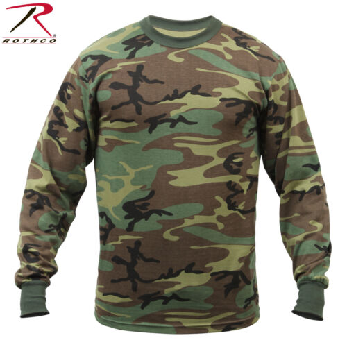 Rothco Long Sleeve Camo T-Shirts Military Style Long Sleeve Camouflage Tees
