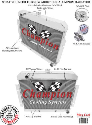 76 77 78 79 Jeep CJ7 Chevy V8 Conversion Champion 3 Row Aluminum Radiator CC1919