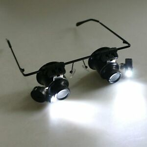 20X-Eye-Loupe-Magnifier-Glass-Magnifying-Jewelers-Low-Vision-Aid-LED-Lights-NP