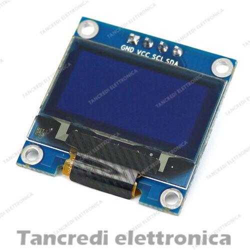 """Modulo Display OLED LCD LED 0.96/"""" 128x64 punti per Arduino I2C IIC tipo SSD1306"""