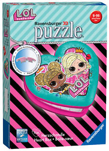 11164-Ravensburger-LOL-Surprise-Heart-Shaped-3D-Jigsaw-Puzzle-54-Piece-Age-8