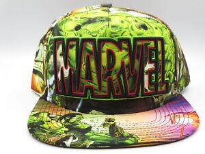 dc56468ab Details about Marvel Comics Hulk Retro Snapback Hat