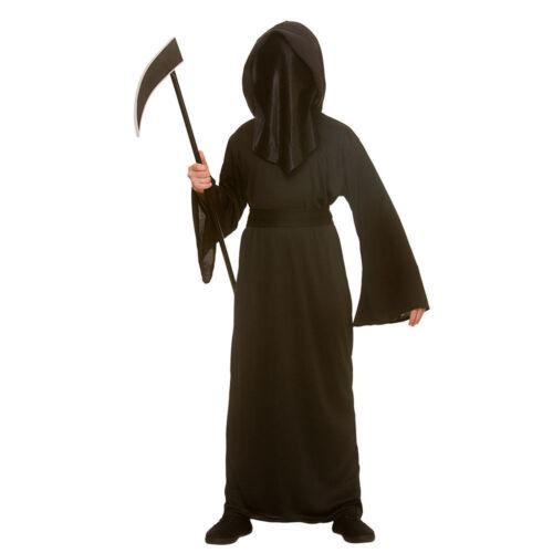 Child FACELESS REAPER HALLOWEEN Scary Horror Fancy Dress Boys Costume Age 5-13