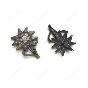 WW2-Army-ELITE-Edelweiss-Mountain-Troops-Hat-Badge-Cap-Insignia-DE-402126