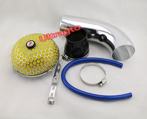 Universal 3 Inch Blue Aluminium Air Filter Turbo Intake Intercooler Piping Pipe