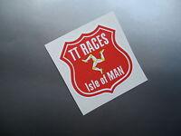 ISLE OF MAN TT RACES SHIELD style sticker/decal x2
